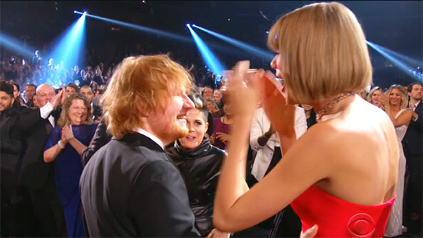 taylor-swift-ed-sheeran-tears-grammy-awards-2016 テイラー・スウィフト エド・シーラン
