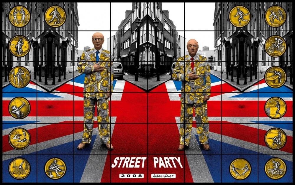 """Werk der britischen KŸnstler Gilbert & George aus der Serie """"JACK FREAK PICTURES"""", 2008. Aus der gleichnamigen Ausstellung in den Deichtorhallen Hamburg, 25.2. - 22.5.2011"""