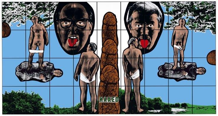ギルバート & ジョージ Naked from Shitty Naked Human World 1994
