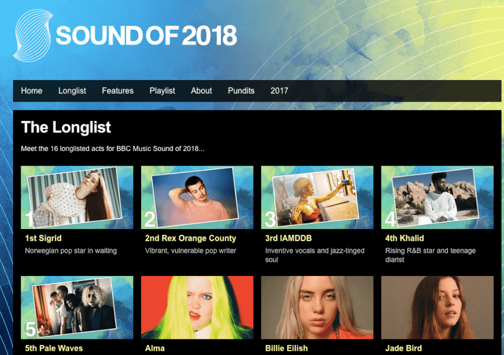 sound of 2018